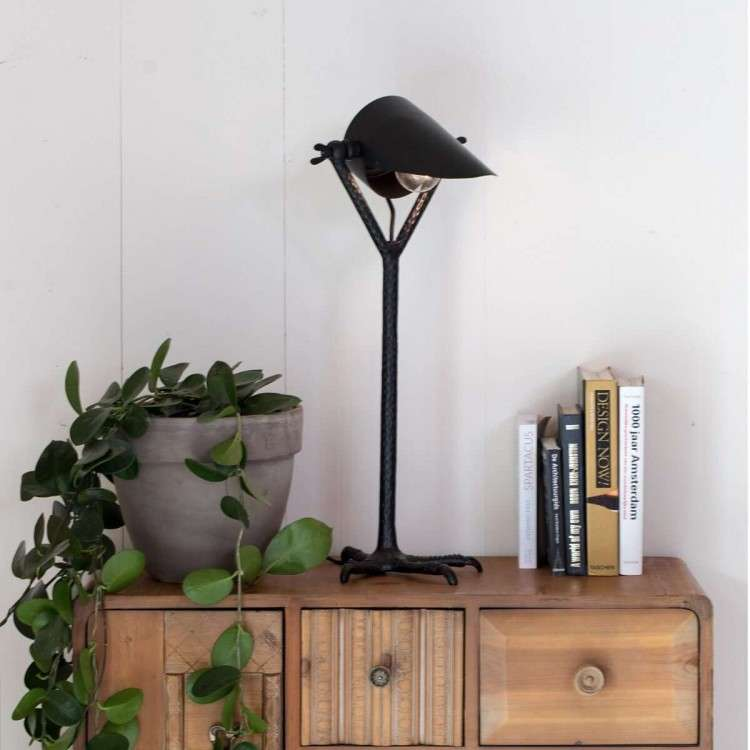 Dutchbone Falcon Table Lamp In Black or Brass Finish from Accessories for the Home