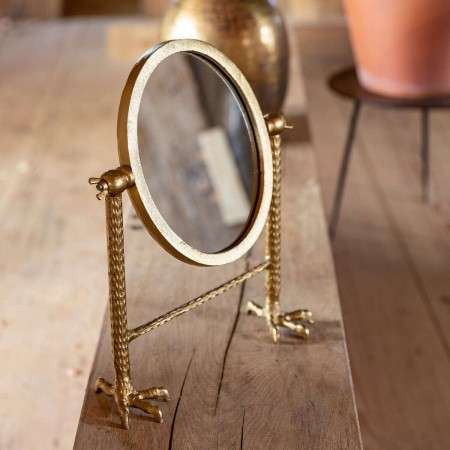 Dutchbone Falcon Dressing Table Mirror In a Black or Brass Finish