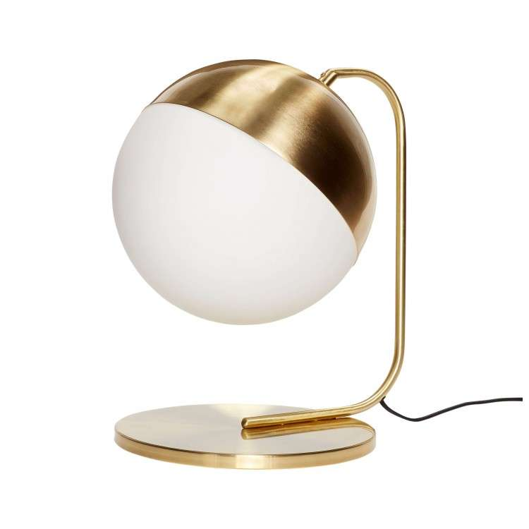 Lunar Sphere White & Brass Table Lamp from Accessories for the Home