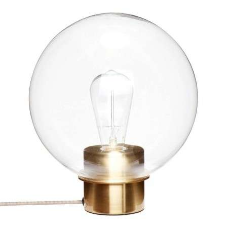 Hubsch Brass and Glass Circular Table Lamp