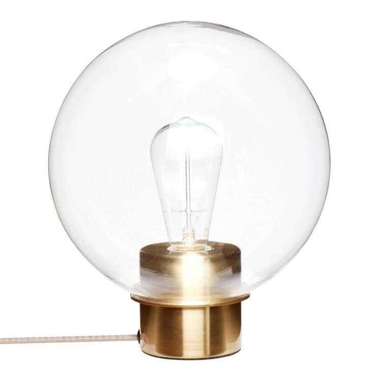 Hubsch Brass and Glass Circular Table Lamp from Accessories for the Home