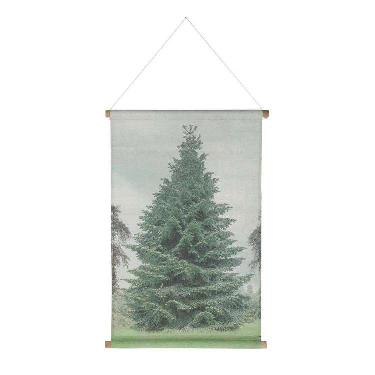 HK Living Christmas Tree Canvas Wall Hanging from Accessories for the Home