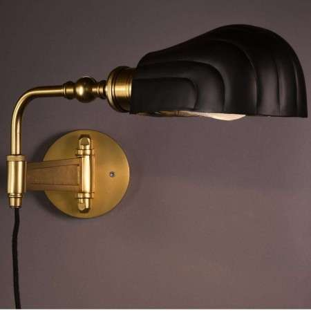 Dutchbone Lily Black & Brass Wall Lamp from Accessories for the Home