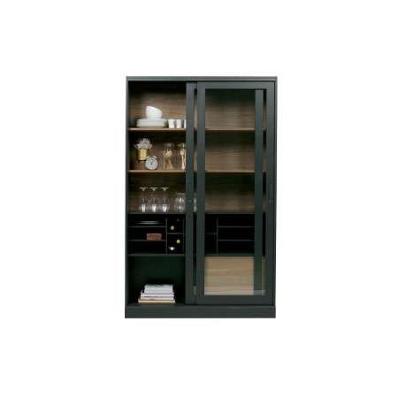 Woood James Black Painted Wooden Display Cabinet from Accessories for the Home