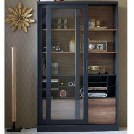 Woood James Black Painted Wooden Display Cabinet