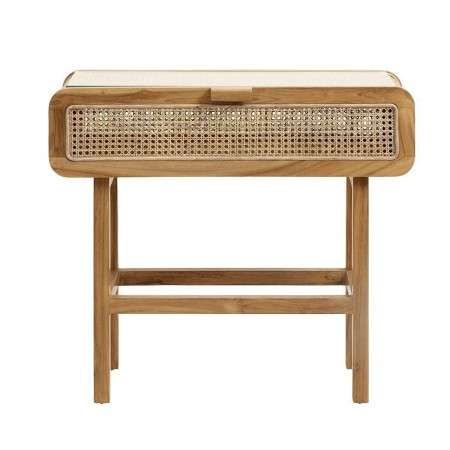 Nordal Natural Rattan and Teak Wood Console from Accessories for the Home