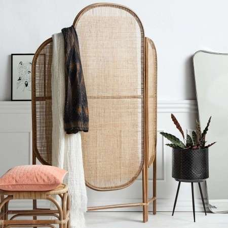 Nordal Natural Rattan Room Divider