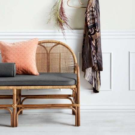Nordal Natural Rattan Bench Seat