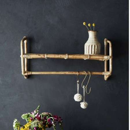 Bamboo 2 Tier Hanging Wall Shelf from Accessories for the Home