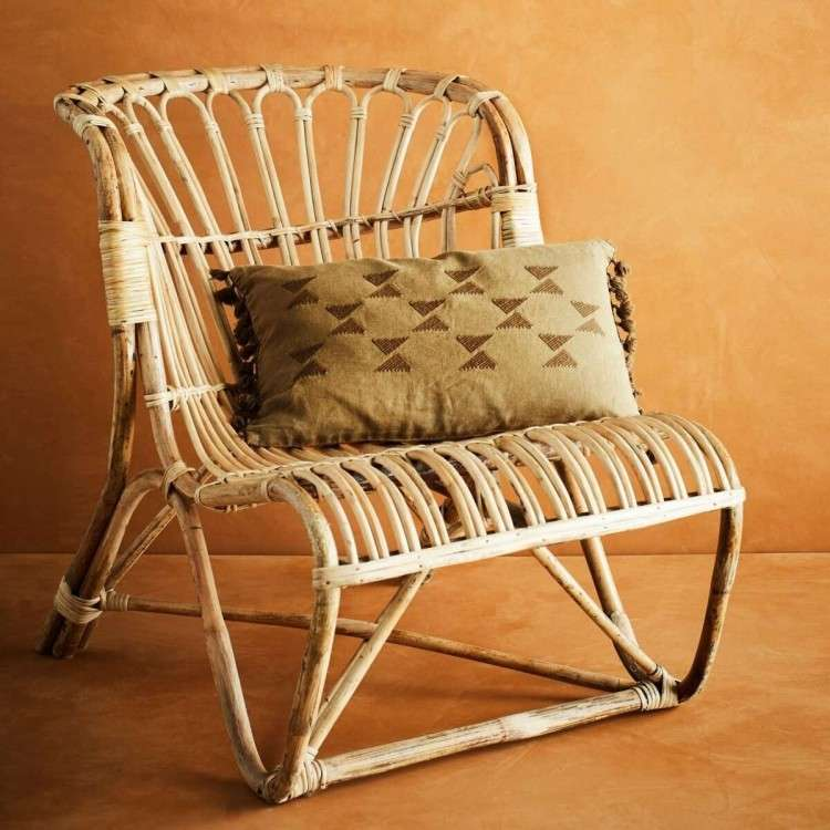 Madam Stoltz Natural Bamboo Lounge Chair from Accessories for the Home