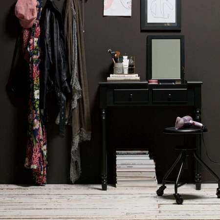 Romy Black Wood Console/Dressing Table from Accessories for the Home