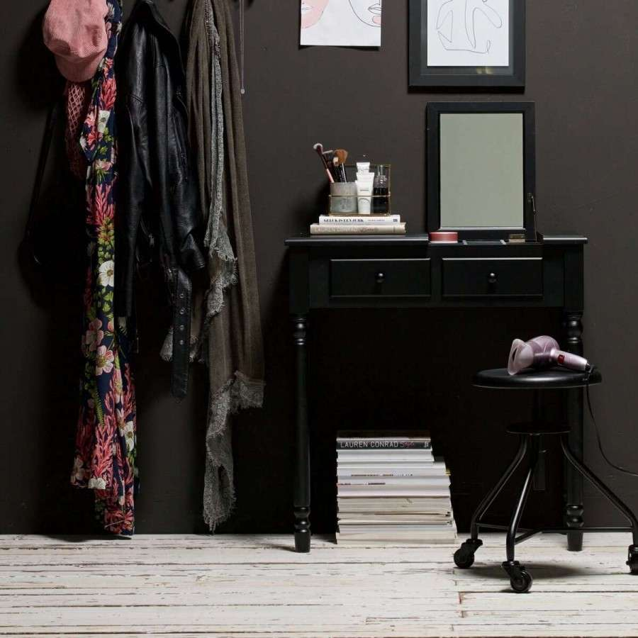 Woood Romy Black Wood Console Dressing Table Acc For The