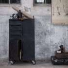 Beauty Black Metal Storage Cabinet on Castors from Accessories for the Home