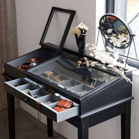 Woood Heritage Black wood Display Table from Accessories for the Home