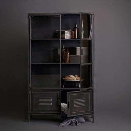 Woood Ronja Black Metal Display Cabinet