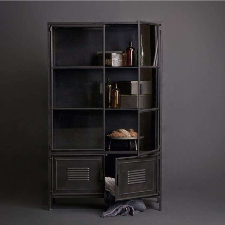 Woood Ronja Black Metal Display Cabinet from Accessories for the Home