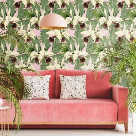 MIND THE GAP Treasure Island Pink Wallpaper from Accessories for the Home
