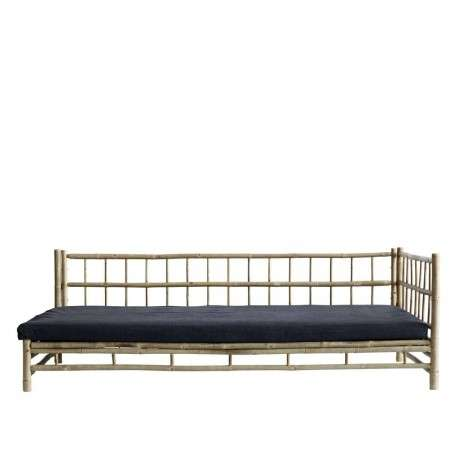 Tinekhome Natural Bamboo Left Hand Lounge Bed with Cushions from Accessories for the Home