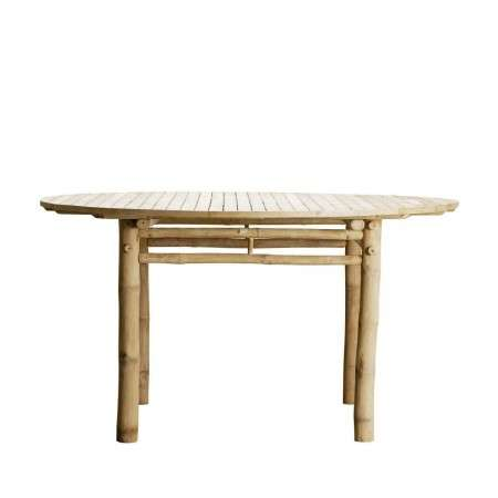 Tinekhome Round Natural Bamboo Dining Table from Accessories for the Home