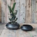 Endo Recycled Metal Round Iron Planter from Accessories for the Home