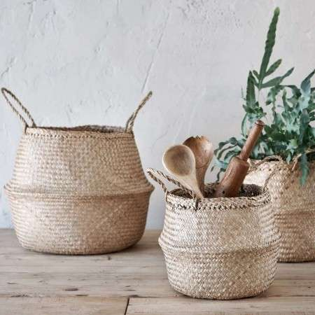 Natural Sea Grass Foldable Storage Baskets