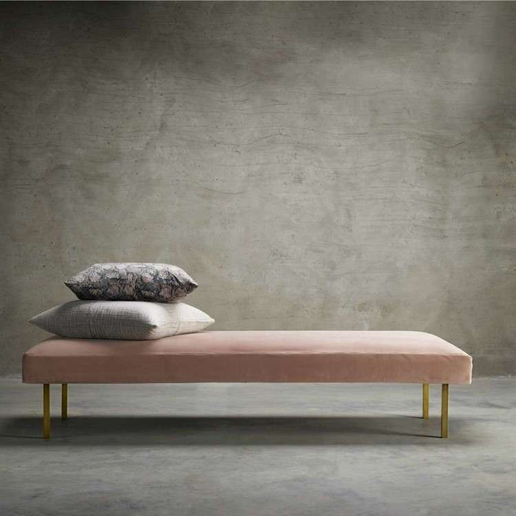 Tinekhome Moss Velvet Daybed with Brass Legs from Accessories for the Home