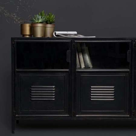 Woood Ronja Black Metal Sideboard
