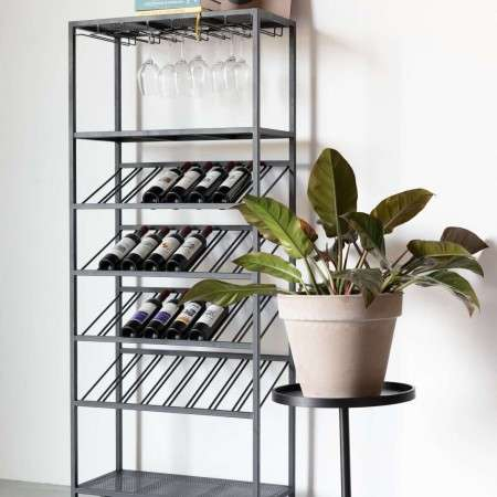 Zuiver Cantor Free Standing Iron Glass and Wine Rack