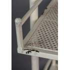 Dutchbone Barber White Iron Wall Shelf from Accessories for the Home