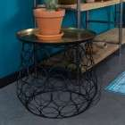 Dutchbone Moulin Brass and Black Side Table from Accessories for the Home