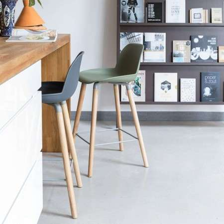 Zuiver Albert Kuip Bar Stool with Back