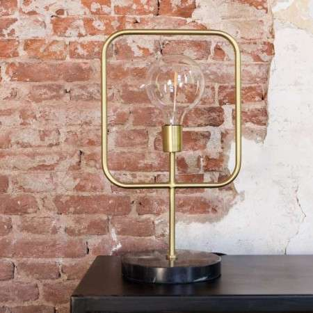 Dutchbone Brass Cubo Table Lamp