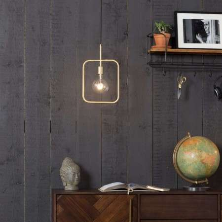 Dutchbone Brass Cubo Pendant Light