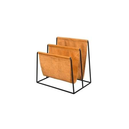 Dutchbone Tan Leather Magazine Holder from Accessories for the Home