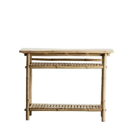 Tinekhome Natural Bamboo Console Table from Accessories for the Home