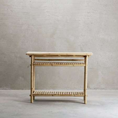 Tinekhome Natural Bamboo Console Table