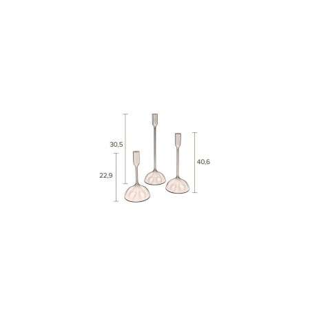 Dutchbone Sesta Brass Candle Holders (Set of 3) from Accessories for the Home