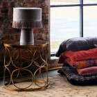 Madam Stoltz Velvet Table Lamp from Accessories for the Home