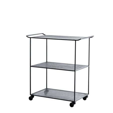 Madam Stoltz Black Iron Drinks Trolley from Accessories for the Home