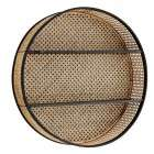Madam Stoltz Round Rattan Wall Shelf from Accessories for the Home