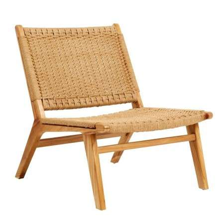 Nordal Natural Teak & Wicker Lounge Chair from Accessories for the Home