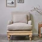 Abe Linen Armchair in Stone from Accessories for the Home
