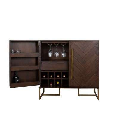 Dutchbone Class Drinks Cabinet with a Herringbone Finish from Accessories for the Home
