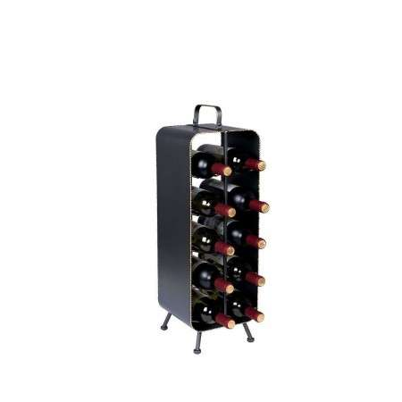 Dutchbone Stalwart Iron Wine Rack from Accessories for the Home