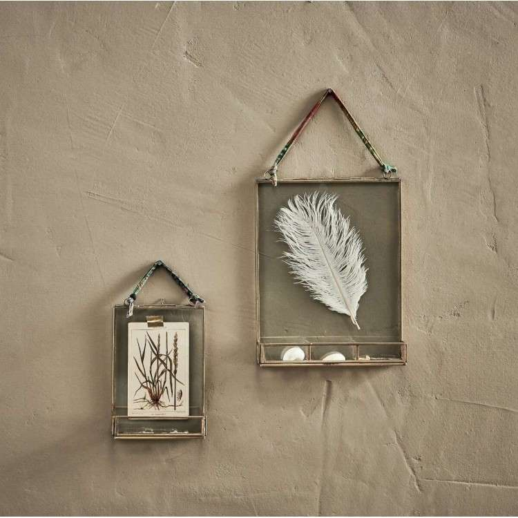 Kiko Antique Brass Photo Frame with Shelf from Accessories for the Home