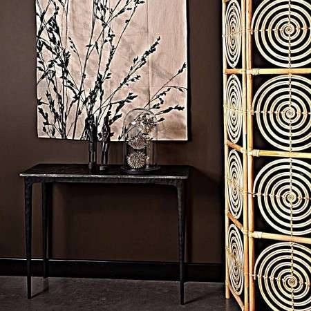 Dutchbone Rocco Black Marble Console Table
