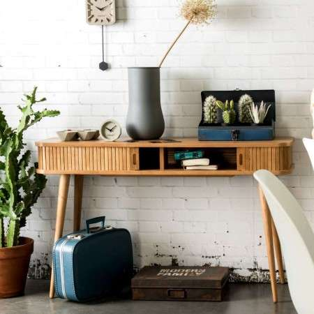 Zuiver Barbier Natural Ash Console Table
