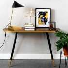 Denise Walnut Veneer & Gold Console Table from Accessories for the Home
