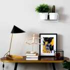 Dutchbone Denise Walnut and Gold Console Table from Accessories for the Home