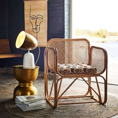 Madam Stoltz Bamboo & Rattan Lounge Chair